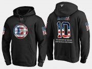 Wholesale Cheap Bruins #10 Anders Bjork NHL Banner Wave Usa Flag Black Hoodie