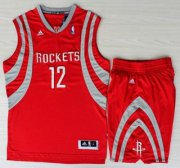 Wholesale Cheap Houston Rockets #12 Dwight Howard Red Revolution 30 Swingman NBA Jerseys Shorts Suit