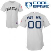 Wholesale Cheap Red Sox Personalized Authentic Grey MLB Jersey (S-3XL)