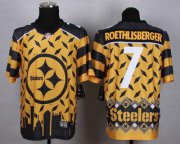 Wholesale Cheap Nike Steelers #7 Ben Roethlisberger Gold Men's Stitched NFL Elite Noble Fashion Jersey