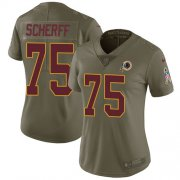 Wholesale Cheap Nike Redskins #75 Brandon Scherff Olive Women's Stitched NFL Limited 2017 Salute to Service Jersey