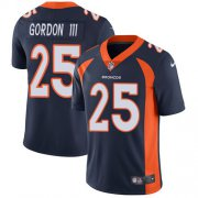 Wholesale Cheap Nike Broncos #25 Melvin Gordon III Navy Blue Alternate Men's Stitched NFL Vapor Untouchable Limited Jersey