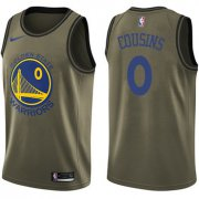 Wholesale Cheap Men's Nike Golden StateWarriors #0 DeMarcus Cousins Green NBA Swingman Salute to Service Jersey