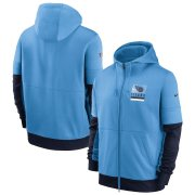Wholesale Cheap Tennessee Titans Nike Sideline Impact Lockup Performance Full-Zip Hoodie Light Blue