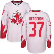 Wholesale Cheap Team CA. #37 Patrice Bergeron White 2016 World Cup Stitched NHL Jersey