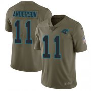 Wholesale Cheap Nike Panthers #11 Robby Anderson Olive Youth Stitched NFL Limited 2017 Salute To Service Jersey