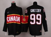 Wholesale Cheap Olympic 2014 CA. #99 Wayne Gretzky Black Stitched NHL Jersey