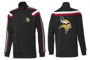 Wholesale Cheap NFL Minnesota Vikings Team Logo Jacket Black_2