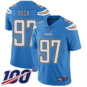 Wholesale Cheap Nike Chargers #97 Joey Bosa Electric Blue Alternate Men's Stitched NFL 100th Season Vapor Limited Jersey