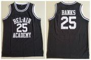 Wholesale Cheap Men's The Movie Bel Air Academy #25 Banks Black Swingman Basketball Jersey