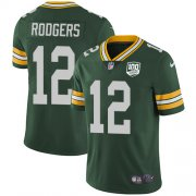 Wholesale Cheap Nike Packers #12 Aaron Rodgers Green Team Color Men's 100th Season Stitched NFL Vapor Untouchable Limited Jersey
