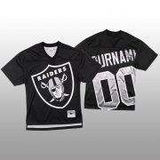 Wholesale Cheap NFL Las Vegas Raiders Custom Black Men's Mitchell & Nell Big Face Fashion Limited NFL Jersey