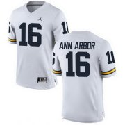 Wholesale Cheap Men's Michigan Wolverines #16 Ann Arbor White Stitched College Football Brand Jordan NCAA Jersey