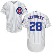 Wholesale Cheap Cubs #28 Kyle Hendricks White Flexbase Authentic Collection Stitched MLB Jersey