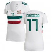 Wholesale Cheap Women's Mexico #17 Candido Away Soccer Country Jersey