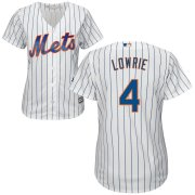 Wholesale Cheap Mets #4 Jed Lowrie White Women's Cool Base Stitched MLB Jersey