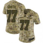 Wholesale Cheap Nike Cowboys #77 Tyron Smith Camo Women's Stitched NFL Limited 2018 Salute to Service Jersey