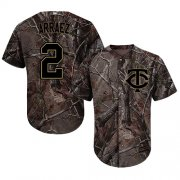 Wholesale Cheap Twins #2 Luis Arraez Camo Realtree Collection Cool Base Stitched Youth MLB Jersey