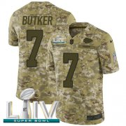 Wholesale Cheap Nike Chiefs #7 Harrison Butker Camo Super Bowl LIV 2020 Youth Stitched NFL Limited 2018 Salute To Service Jersey