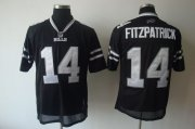 Wholesale Cheap Bills #14 Ryan Fitzpatrick Black Shadow Stitched NFL Jersey