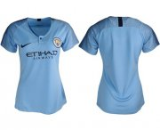 Wholesale Cheap Women's Manchester City Blank Home Soccer Club Jersey