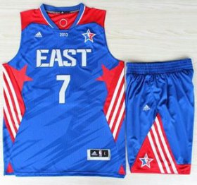 Wholesale Cheap 2013 All-Star Eastern Conference New York Knicks 7 Carmelo Anthony Blue Revolution 30 Swingman Suits