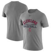Wholesale Cheap Cleveland Indians Nike Away Practice T-Shirt Heathered Gray