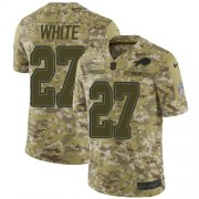 Wholesale Cheap Nike Bills #27 Tre'Davious White Camo Men's Stitched NFL Limited 2018 Salute To Service Jersey