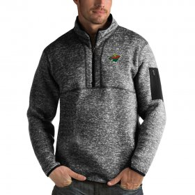 Wholesale Cheap Minnesota Wild Antigua Fortune Quarter-Zip Pullover Jacket Charcoal