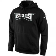 Wholesale Cheap Philadelphia Eagles Nike KO Wordmark Performance Hoodie Black