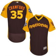 Wholesale Giants #35 Brandon Crawford Brown Flexbase Authentic Collection 2016 All-Star National League Stitched Baseball jerseys