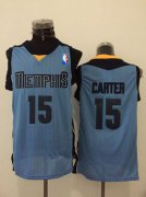 Wholesale Cheap Men's Memphis Grizzlies #15 Vince Carter Light Blue Swingman Jersey