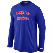 Wholesale Cheap Nike Tampa Bay Buccaneers Heart & Soul Long Sleeve T-Shirt Blue