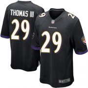 Wholesale Cheap Nike Ravens #29 Earl Thomas III Black Alternate Youth Stitched NFL New Elite Jersey