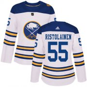 Wholesale Cheap Adidas Sabres #55 Rasmus Ristolainen White Authentic 2018 Winter Classic Women's Stitched NHL Jersey