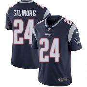 Wholesale Cheap Nike Patriots #24 Stephon Gilmore Navy Blue Team Color Men's Stitched NFL Vapor Untouchable Limited Jersey