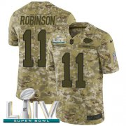 Wholesale Cheap Nike Chiefs #11 Demarcus Robinson Camo Super Bowl LIV 2020 Youth Stitched NFL Limited 2018 Salute To Service Jersey