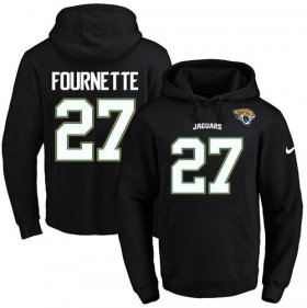 Wholesale Cheap Nike Jaguars #27 Leonard Fournette Black Name & Number Pullover NFL Hoodie