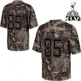 Wholesale Cheap Patriots #85 chad ochocinco Camouflage Realtree Super Bowl XLVI Embroidered NFL Jersey