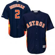 Wholesale Cheap Astros #2 Alex Bregman Navy Blue Cool Base Stitched Youth MLB Jersey