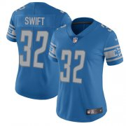 Wholesale Cheap Nike Lions #32 D'Andre Swift Blue Team Color Women's Stitched NFL Vapor Untouchable Limited Jersey