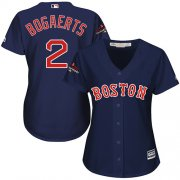 Wholesale Cheap Red Sox #2 Xander Bogaerts Navy Blue Alternate 2018 World Series Champions Women's Stitched MLB Jersey