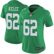Wholesale Cheap Nike Eagles #62 Jason Kelce Green Women's Stitched NFL Limited Rush Jersey