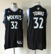 Wholesale Cheap Men's Minnesota Timberwolves #32 Karl-Anthony Towns Revolution 30 Swingman Black Jersey