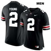 Wholesale Cheap Mens Ohio State Buckeyes Authentic Nike White Font #2 Chase Young Stitched Black College Football Jersey
