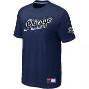 Wholesale Cheap Chicago White Sox Nike Away Practice MLB T-Shirt Midnight Blue