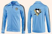 Wholesale Cheap NHL Pittsburgh Penguins Zip Jackets Light Blue
