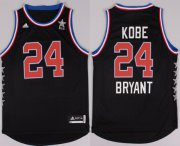 Wholesale Cheap 2015 NBA Western All-Stars #24 Kobe Bryant Revolution 30 Swingman Black Jersey