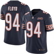 Wholesale Cheap Nike Bears #94 Leonard Floyd Navy Blue Team Color Men's 100th Season Stitched NFL Vapor Untouchable Limited Jersey