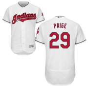 Wholesale Cheap Indians #29 Satchel Paige White Flexbase Authentic Collection Stitched MLB Jersey